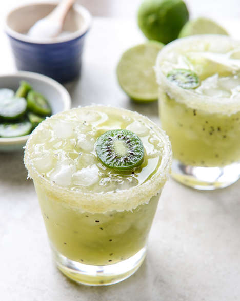 Kiwi Margarita Cocktails