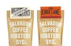 Artisanal Java Branding - This Salvador Coffee Packaging is Rustic and Sustainable