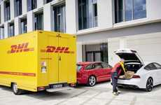 Car Trunk Package Deliveries - 'Connect Easy' Envisions DHL Packages Delivered To Your Audi's Trunk