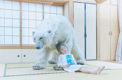Soothing Polar Campaigns - Halls' Medicine Marketing Offers 'Animal Thereapy' with a Polar Bear