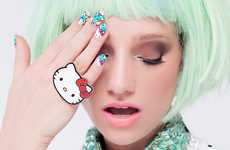 Animated Feline Manicures - The NCLA Hello Kitty Collection Features Customized Nail Stickers