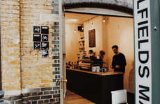 Rustic Coffee Bar Outposts - The Latest Department of Coffee Location is Modern Minimalism
