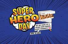 Heroic Donut Deals - Krispy Kreme Offers Free Treats for National Superhero Day Nominations