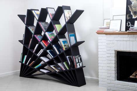 Fantastic Fan-Like Bookcases