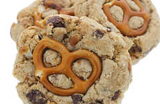 Bold Hybrid Biscuits - These Pretzel Chocolate Chip Cookies are Also Infused with Meaty Flavor