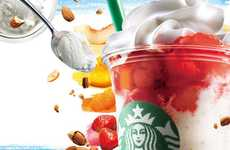 Caffeinated Parfait Beverages - Starbucks Japan's New Frappuccino Blends in a Fruity Yogurt Parfait
