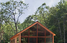Sustainable Cabin Residences - Lang Architecture's Hudson Woods Home is Eco-Friendly and Elegant