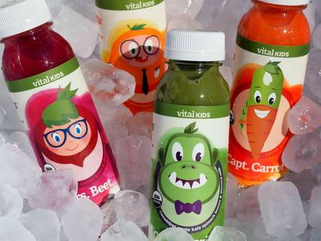 Kids Cold-Pressed Juices - The Vital Kids Line of Healthy Beverages Are All-Natural and GMO-Free