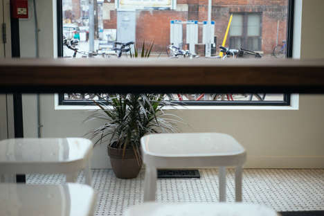 Menswear Brand Cafes - The Frank & Oak Toronto Flagship Houses Cafe St Viateur