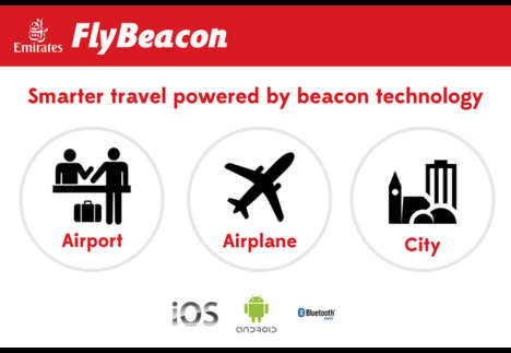 Airport Navigation Beacons - The FlyBeacon App Helps Emirates Customers Find Their Gate
