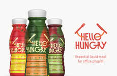 Healthy Workaholic Drinks - Hello Hungry is a Liquid Meal Supplement for Busy People
