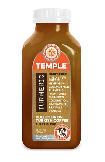 Spicy Superfood Beverages - This Temple Turmeric Milk Mimics the Taste of Turkish Coffee
