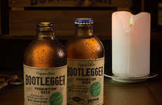 Prohibition Beer Branding - This Bootlegger Apple Brew Packaging is Reminiscent of Vintage Designs