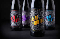 Quirky Craft Branding - Vocation Introduces a Line of New Craft Beers with a Bold Brand Identity