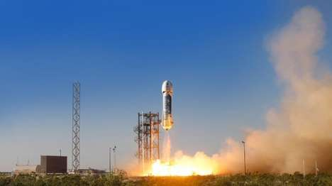 Commercial Space Vehicles - The Blue Origin New Shepard Space Vehicle Was Pioneered By Jeff Bezos