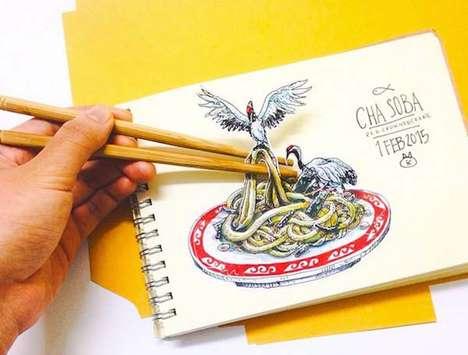 Intricate 3D Drawings