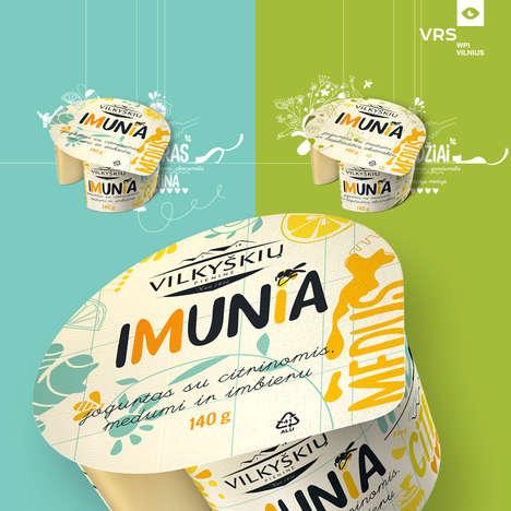 Herbal Yogurt Branding