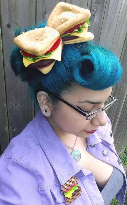 Cheeseburger Hair Bows