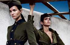 Army Training Editorials - The Vogue Japan A Uniform Way of Life Photoshoot is Militaristic