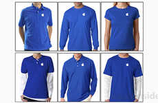 Refreshed Blue Uniforms - Apple Store Employees Now Wear Bright Blue Shirts with Cleaner Lines