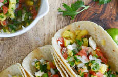 Ginger Garlic Steak Tacos - This Indian Infusing Recipe is Topped with Pineapple Pico de Gallo