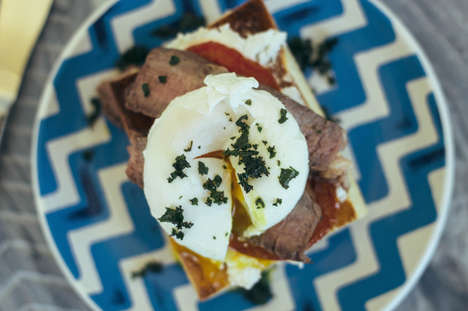 Meaty Breakfast Bruschetta