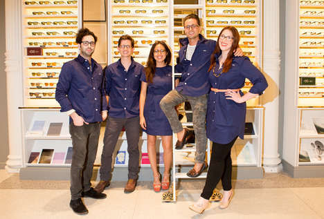 E-Commerce Flagship Uniforms - The Warby Parker Uniforms at Their Flagship Store Offer Flexibility