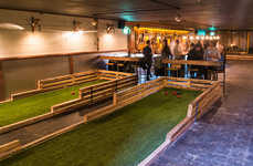 Lawn Bowling Bars - Toronto's Track & Field Venue Fuses Lawn Sports and Liquor