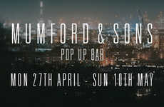 Folksy Pop-Up Bars - The Mumford & Sons Pop-Up Bar Launches a New Album and an Exclusive Beer