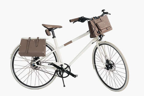 Unisex Designer Bicycles - The Latest Hermes Bicycle Features a Leather Seat and Handlebars