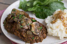 Meatless Imitation Meals - The Oh My Veggies Vegetarian Salisbury Steak Recipe is Chuck-Less