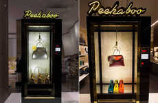 Vending Machine Retail Displays - This Fendi Window Display at Harrod's is Inspired by Arcade Kiosks
