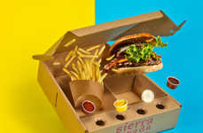 Burger Delivery Boxes - Sierra Nevada Takeout Packaging Arranges Your Combo Meal Compactly