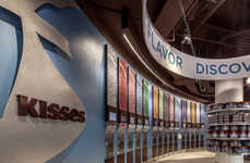 Experiential Candy Shops - The Hershey's Chocolate World Experience Boasts a Wall of Candy