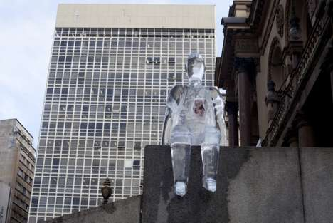 Donation-Encouraging Statues - A Series of Ice Men in Brazil Raise Awareness of Organ Donation