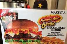 Zesty Hybrid Burgers - Carl's Jr. BeganTesting its 'Flamin' Hot Cheetos Thickburger'