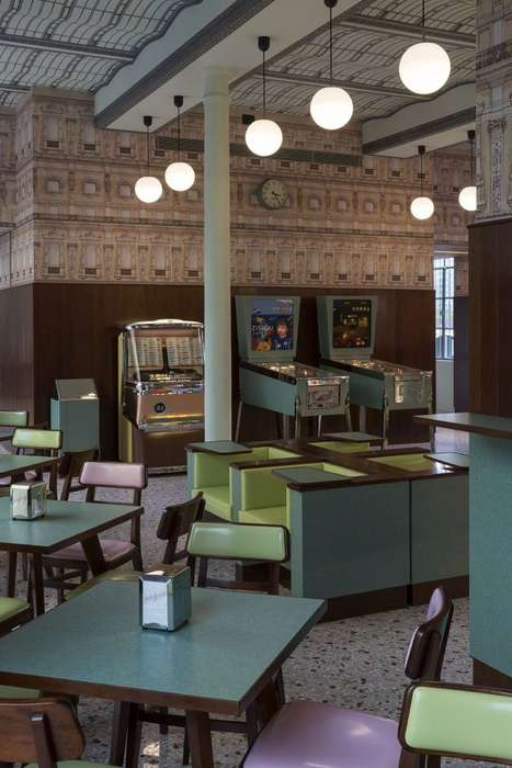 Cinematic Fashion Cafes - The Wes Anderson Prada Restaurant Boasts a Whimsical Design