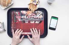 Food Tray Keyboards - KFC's Paper Fast Food Tray Doubles as a Wireless Keyboard for Greasy Fingers