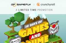 Anime Gaming Incentives - Game Rental Service GameFly Teams Up with Crunchyroll to Offer Anime