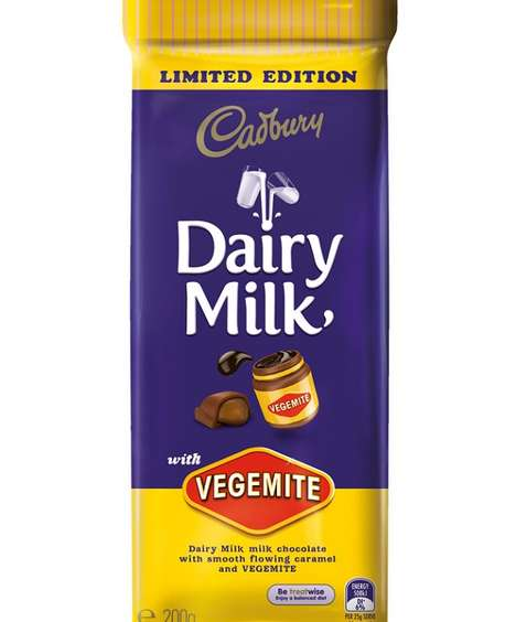 Food Paste Chocolates - Cadbury's Vegemite Chocolate is a Wacky Part of the #ChocPlusWhat Collection