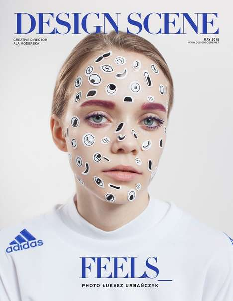 Sticker Makeup Editorials - Design Scene's FEELS Image Series Boasts Vibrant Cosmetics