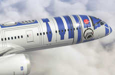 Sci-Fi-Inspired Airplanes - The ANA Star Wars Project Has Crafted a R2-D2-Themed 787 Dreamliner