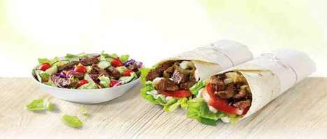 Exlusive Steak Wraps - McDonald's Australia has a Sirloin Steak Menu Consisting of Wraps and Salad