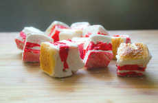 Colorful Bacon Marshmallows