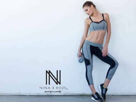Flattering Yoga Leggings - Nina B Roze's Heart Butt Collection Focuses on Style and High Performance