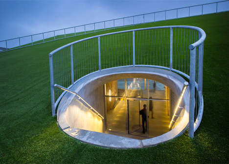 Subterranean School Facilities - BIG Has Designed an Art Building Underneath This School Field