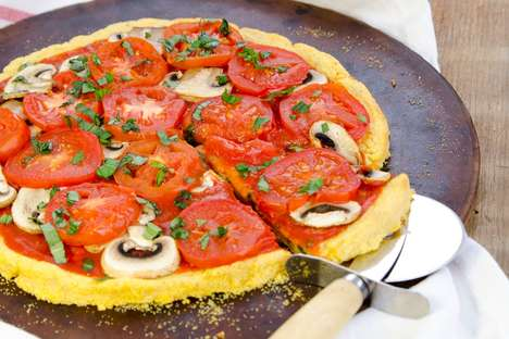 Polenta Pizza Crusts - This Vegan Pizza Recipe Replaces Gluten With Cornmeal