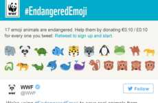 Animal-Saving Emojis - WWF's Twitter Campaign to Save Endangered Animals Begins with a Retweet