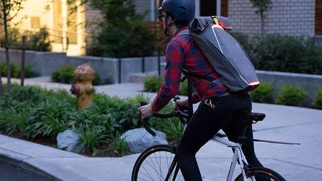 Turn Signal Backpacks - This Backpack Provides Safe Communication Between Cyclists and Motorists