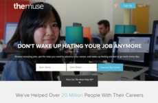Millennial Job Marketplaces - The Muse is a Site Dedicated to Sharing Jobs for Millennials
